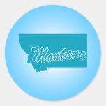 State Montana Classic Round Sticker