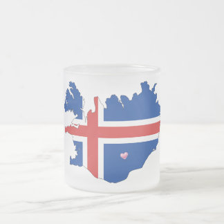 State Mug/Iceland Europe-Hometown Frosted Glass Coffee Mug
