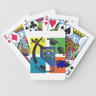 STATE NEVADA MOTTO GEOCACHER BICYCLE PLAYING CARDS