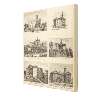 State normal schools and State University Canvas Print