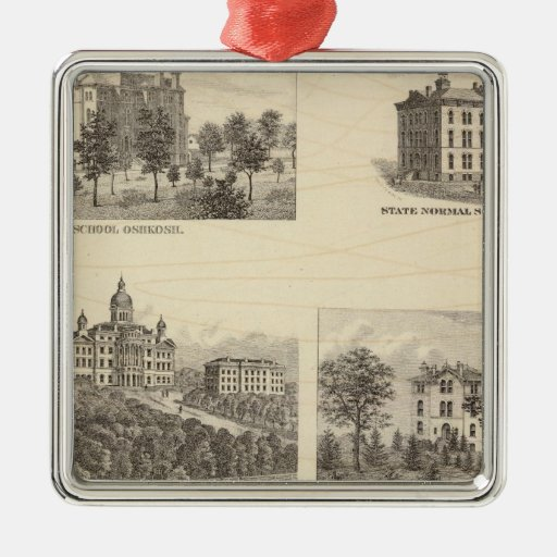 State normal schools and State University Metal Ornament