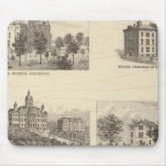 State normal schools and State University Mouse Pad