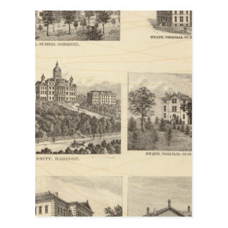 State normal schools and State University Postcard