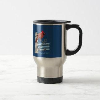 state north Carolina bird, light house 15 Oz Stainless Steel Travel Mug