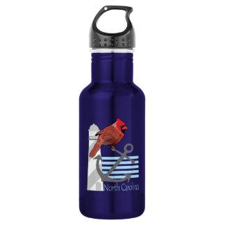 state north Carolina bird, light house 18oz Water Bottle
