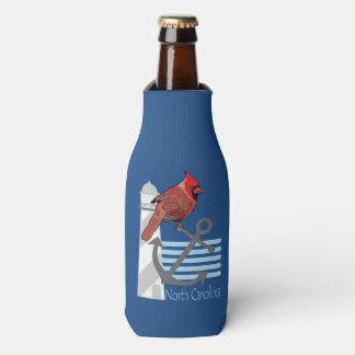 state north Carolina bird, light house Bottle Cooler