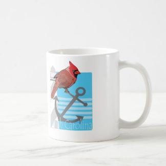 state north Carolina bird, light house Classic White Coffee Mug