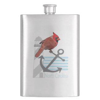 state north Carolina bird, light house Flasks