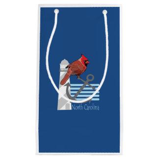 state north Carolina bird, light house Small Gift Bag