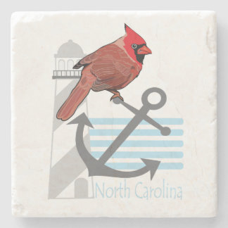 state north Carolina bird, light house Stone Coaster