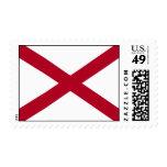State of Alabama Flag Postage Stamp