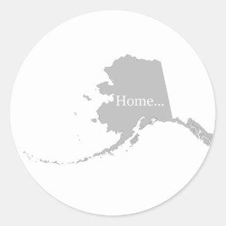 State of Alaska Classic Round Sticker