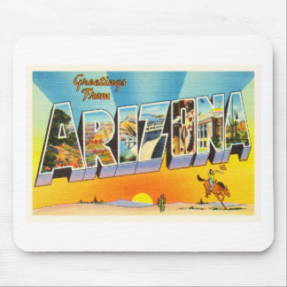 State of Arizona AZ Old Vintage Travel Souvenir Mouse Pad