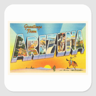State of Arizona AZ Old Vintage Travel Souvenir Square Sticker