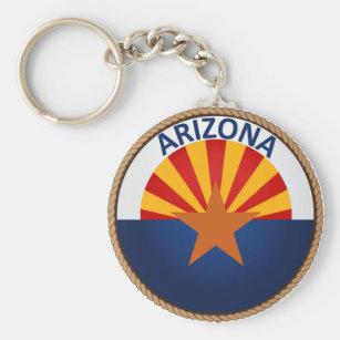 State of Arizona Flag Seal Keychain