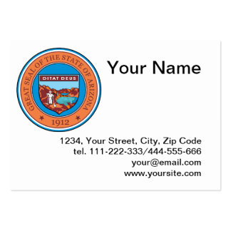 State of Arizona seal Large Business Cards (Pack Of 100)