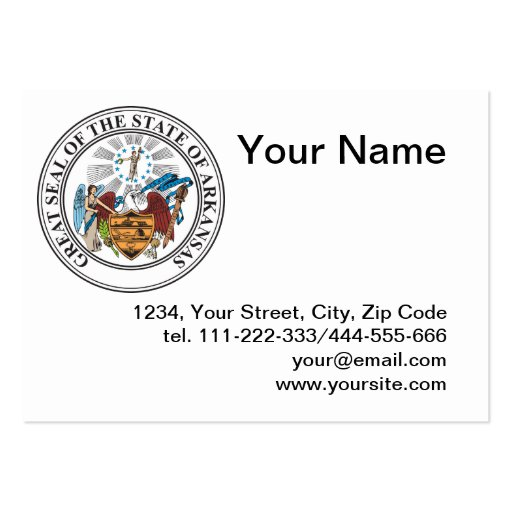 State of Arkansas seal Business Cards