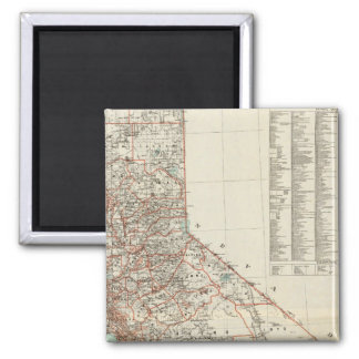 State of California 2 2 Inch Square Magnet