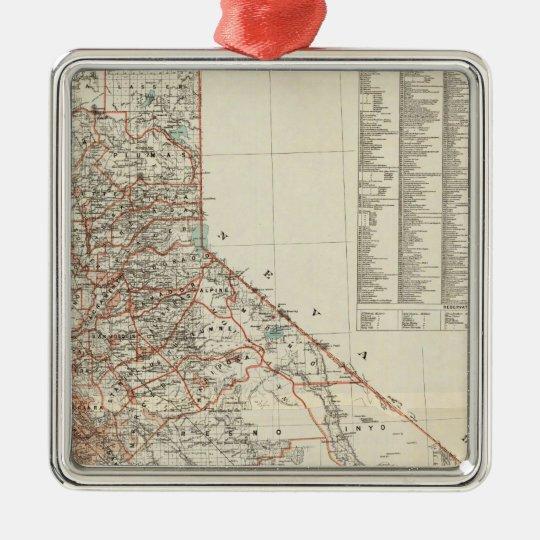 State of California 2 Metal Ornament