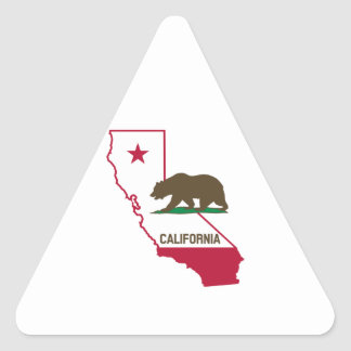 State of California and Grizzly Bear Triangle Sticker