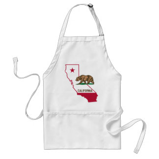 State of California Bear and Flag Adult Apron