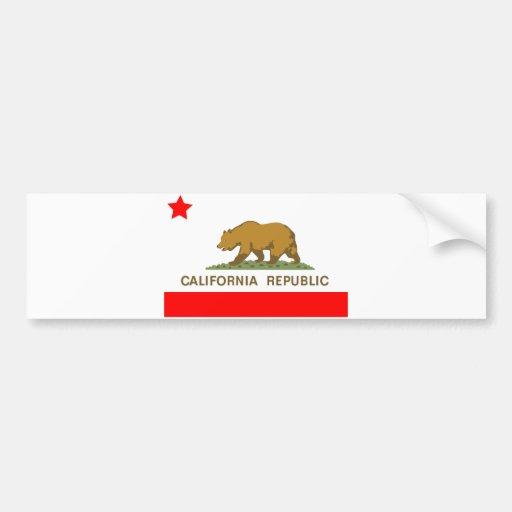 State of California Flag Car Bumper Sticker