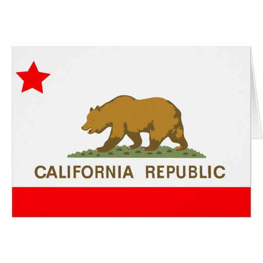 State of California Flag Card