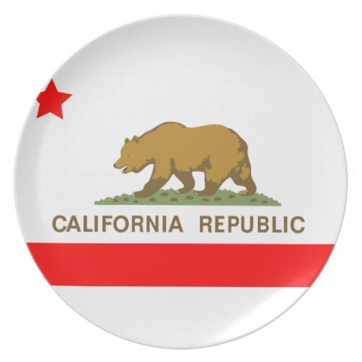 State of California Flag Party Plate