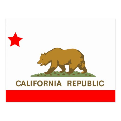 State of California Flag Postcard