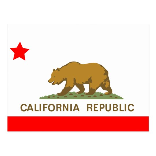 State of California Flag Postcard