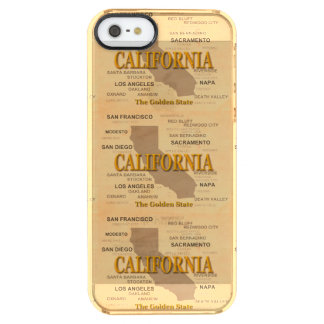 State of California Map, Los Angeles, Sacramento Clear iPhone SE/5/5s Case