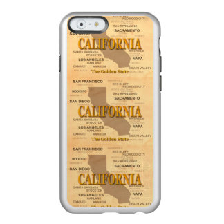 State of California Map, Los Angeles, Sacramento Incipio Feather Shine iPhone 6 Case