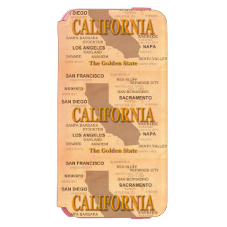 State of California Map, Los Angeles, Sacramento iPhone 6/6s Wallet Case