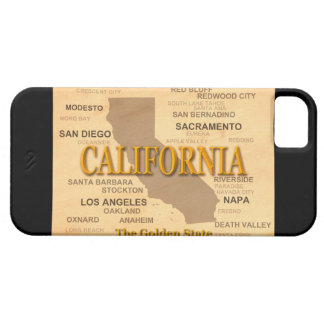 State of California Map, Los Angeles, Sacramento iPhone SE/5/5s Case
