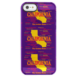 State of California Map, Los Angeles, San Diego Clear iPhone SE/5/5s Case