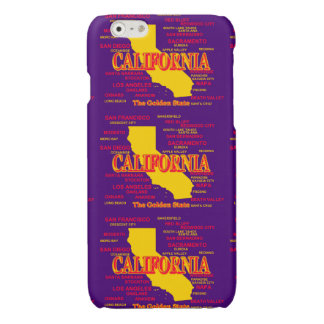State of California Map, Los Angeles, San Diego Glossy iPhone 6 Case