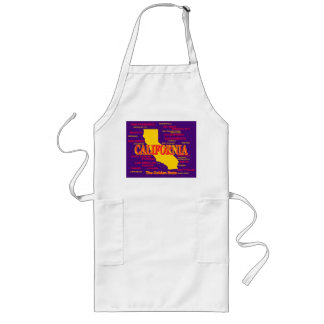 State of California Map, Los Angeles, San Diego Long Apron