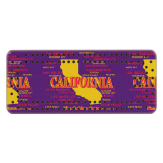 State of California Map, Los Angeles, San Diego Maple Cribbage Board