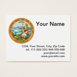 State of California seal Business Card