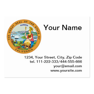 State of California seal Business Card Template