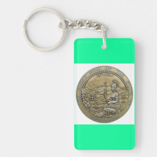 state of california Single-Sided rectangular acrylic keychain