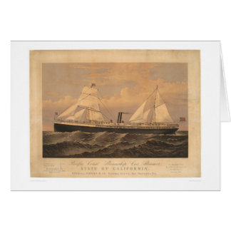 """State of California"" Steamer (1275A) Cards"