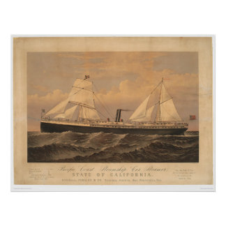 """""""State of California"""" Steamer (1275A) Poster"""