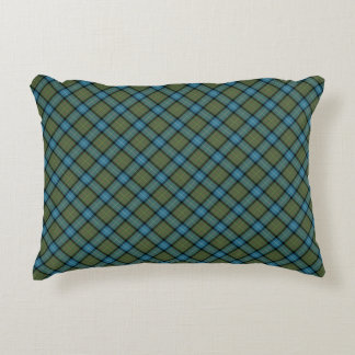 State of California Tartan Decorative Pillow
