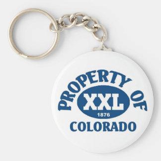State of Colorado Basic Round Button Keychain