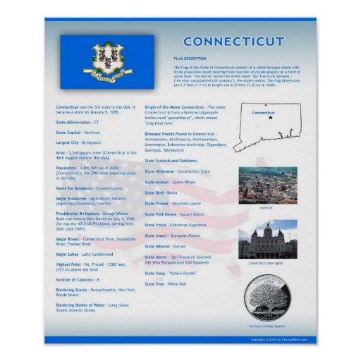 State of Connecticut, CT Posters