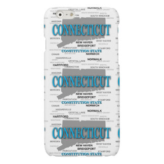 State of Connecticut Map, Hartford, New Haven Glossy iPhone 6 Case