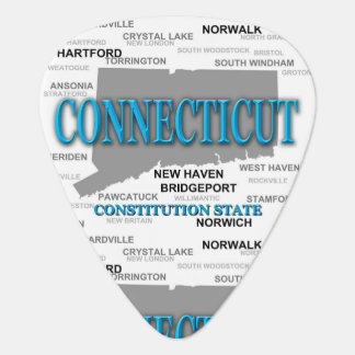 State of Connecticut Map, Hartford, New Haven Guitar Pick
