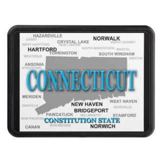 State of Connecticut Map, Hartford, New Haven Hitch Cover