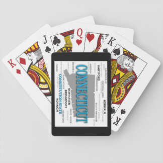 State of Connecticut Map, Hartford, New Haven Playing Cards